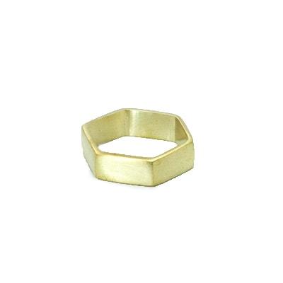 SKURW19 35x16 mm Raw Brass Hexagon Pendant Raw Brass Pendant Hexagon Stamping Blank